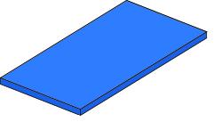 Bänfer Gerätturnmatte Standard blau