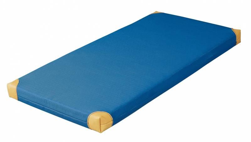Bänfer Gerätturnmatte Standard mit Lederecken blau