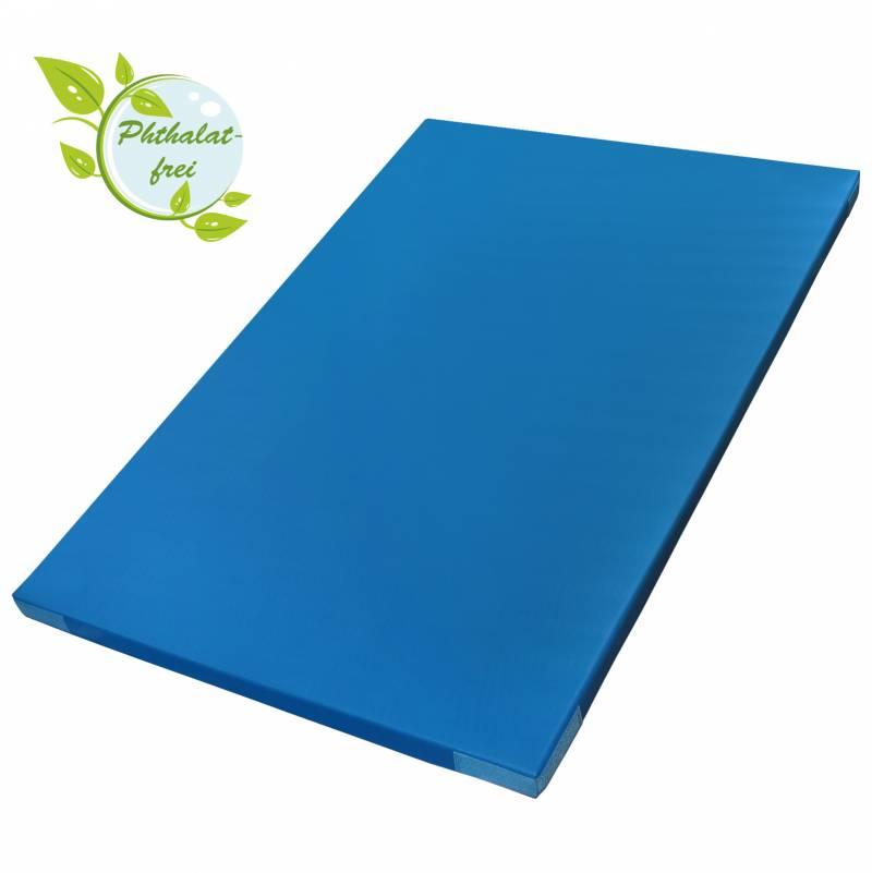 BB Sport Leichtturnmatte 200 x 125 x 6 cm mit Klettecken, blau