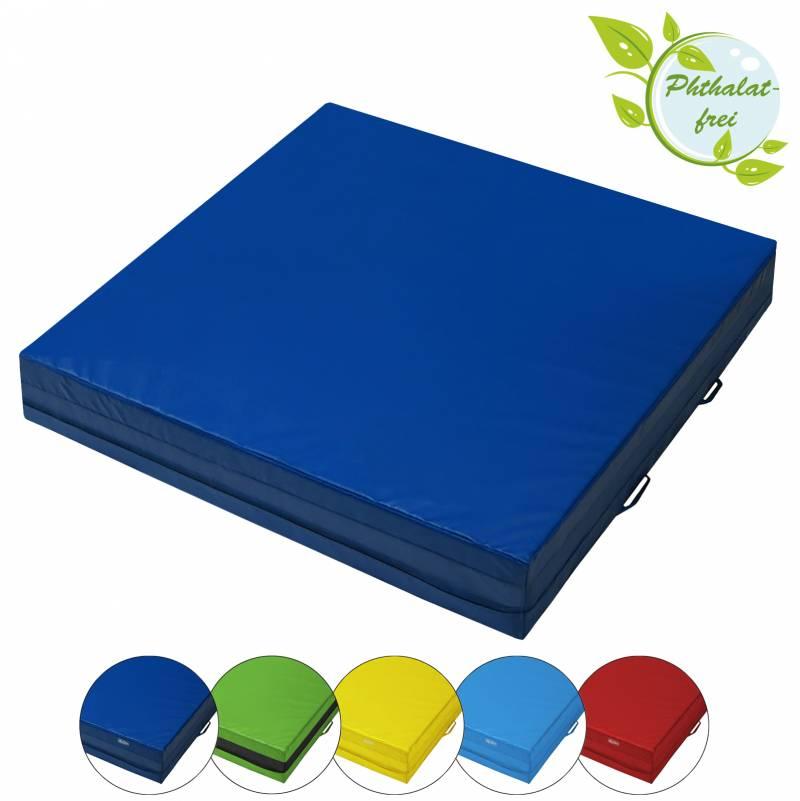 BB Sport Mini-Weichbodenmatte 100 x 100 x 20 cm mit Tragegriffen und Anti-Rutschboden