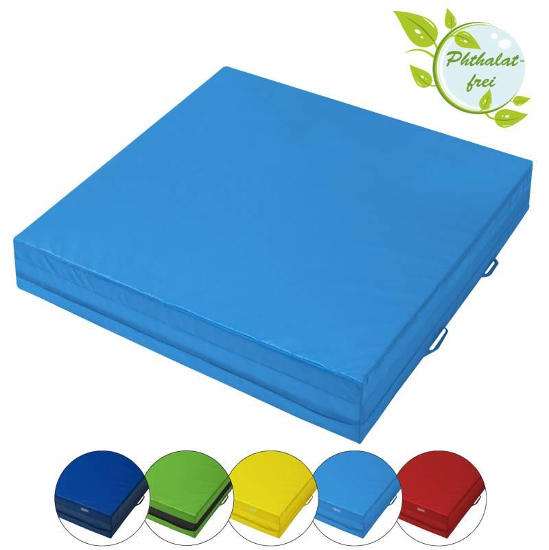 BB Sport Mini-Weichbodenmatte 100 x 100 x 25 cm mit Tragegriffen und Anti-Rutschboden
