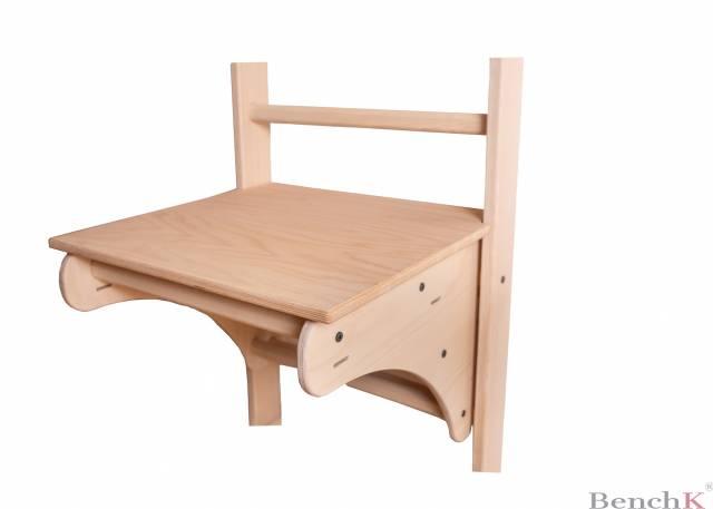 BenchK 113 Sprossenwand - 8 Sprossen inkl. abnehmbare Klimmzugstange + Zubehör für Kinder + Tischplatte