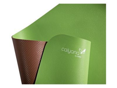 Calyana Prime Yogamatte - limonengrün/nussbraun