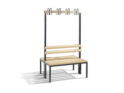 C+P Möbel Doppelseitige Umkleidebank (100cm x 75,6cm x 165cm)