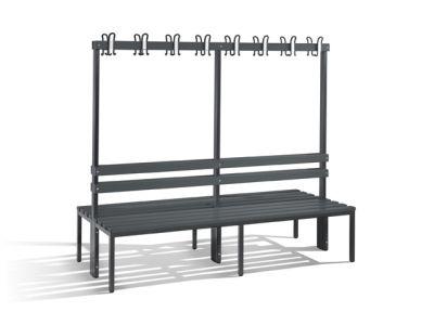 C+P Möbel Doppelseitige Umkleidebank (200cm x 75,6cm x 165cm)
