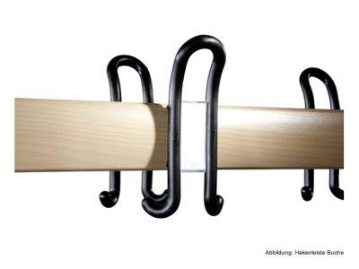 C+P Möbel Doppelseitige Umkleidebank mit Schuhrost (100cm x 75,6cm x 165cm)