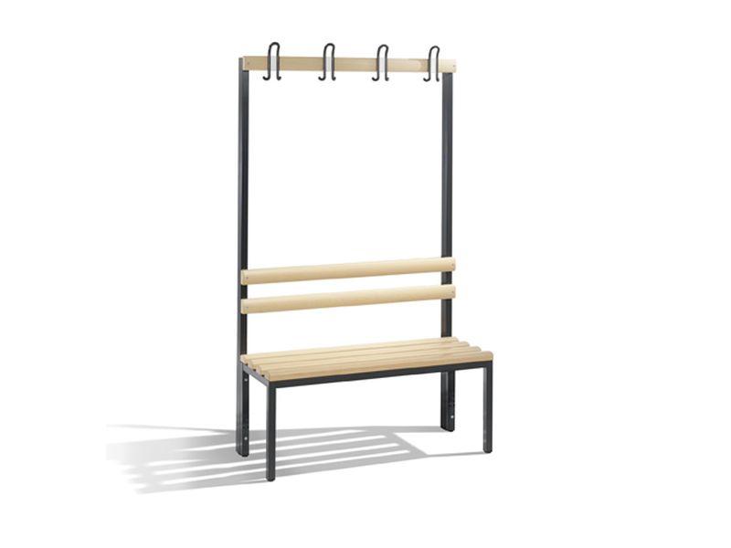 C+P Möbel Einseitige Umkleidebank (100cm x 40,3cm x 165cm)