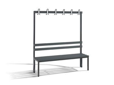 C+P Möbel Einseitige Umkleidebank (150cm x 40,3cm x 165cm)