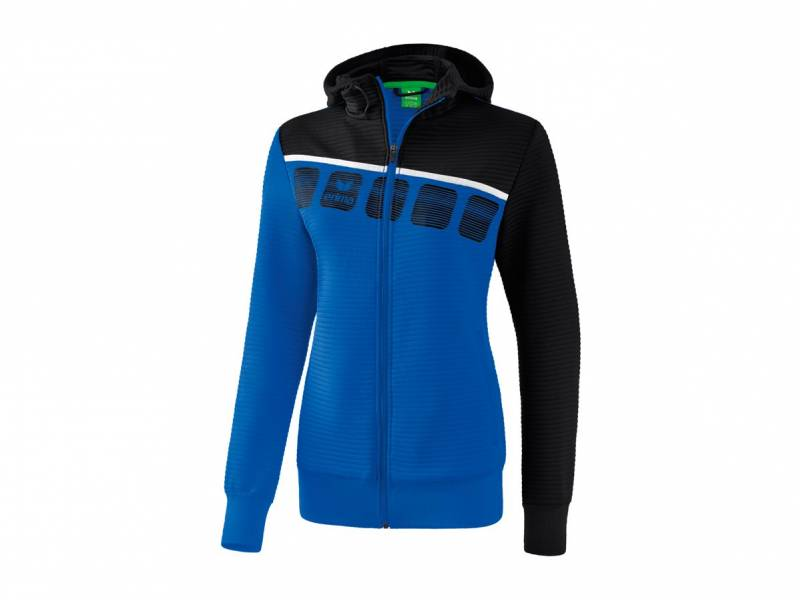 Erima 5-C Trainingsjacke mit Kapuze (Damen)