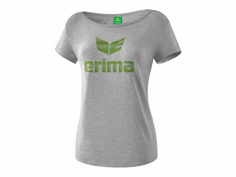 Erima Essential T-Shirt, hellgrau melange (Damen)