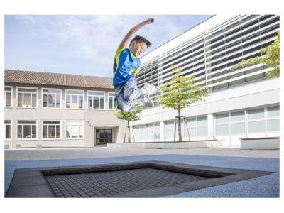 """Eurotramp Kids-Tramp """"Playground"""" (eckig, vandalismussicher)"""