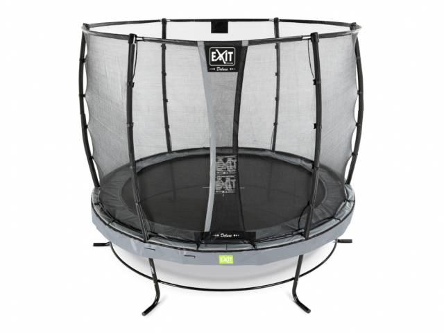 EXIT Gartentrampolin Elegant 251 cm + Sicherheitsnetz Deluxe