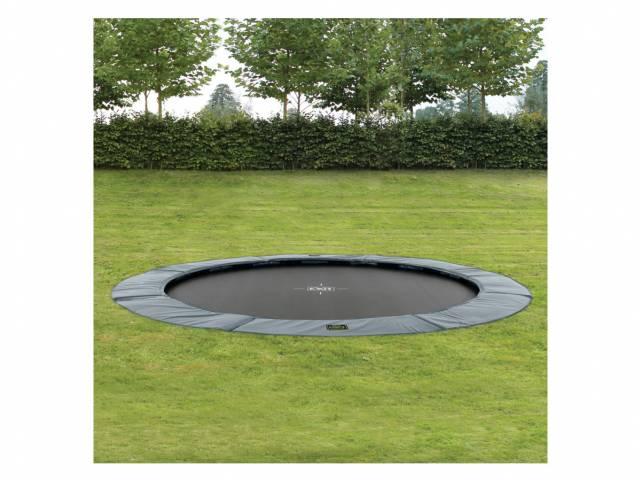 EXIT Gartentrampolin Supreme Ground Level 366 cm Grau