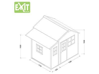EXIT Spielhaus Loft 150 Grün