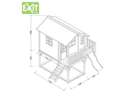 EXIT Spielhaus Loft 550 Grün