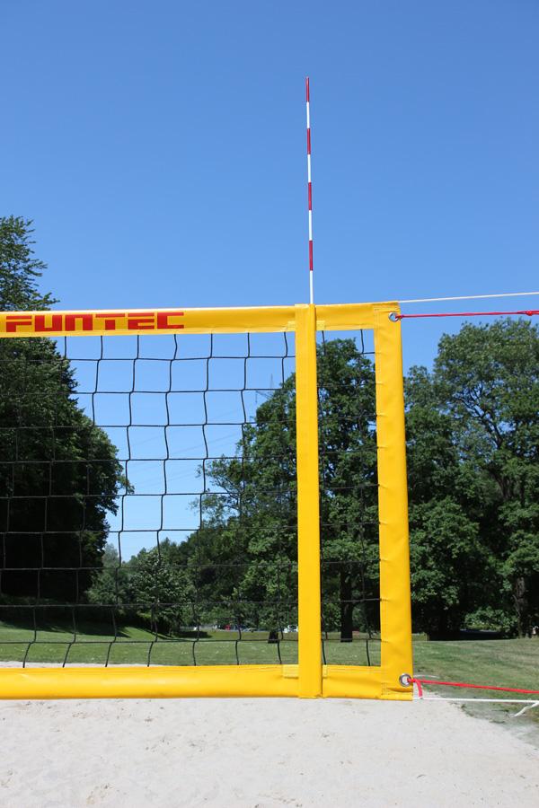 Funtec Beachvolleyball Antennen PLUS mit Klett Haltetaschen