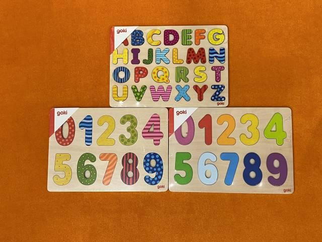 goki Einlegepuzzle Zahlen 0-9