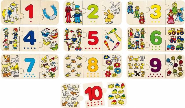 goki Puzzle Zählen und zuordnen