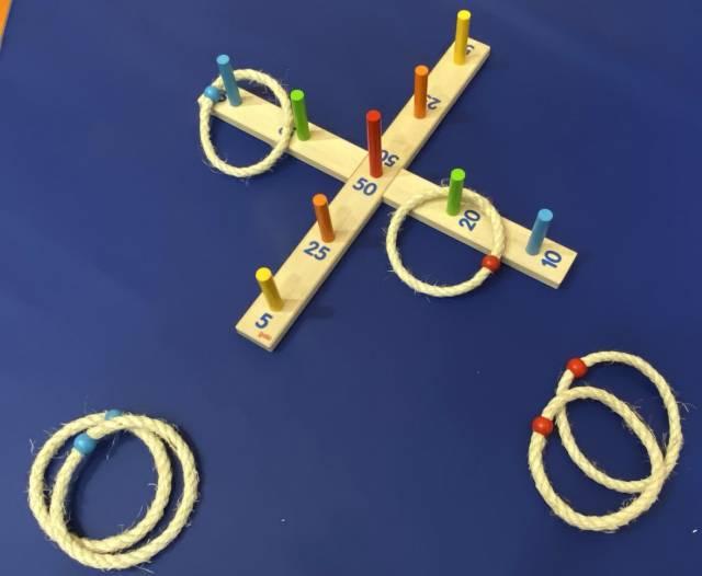 goki Ringwurfspiel mit 6 Sisalringen