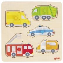 goki Steckpuzzle Auf der Straße