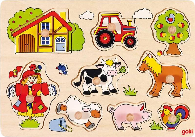 goki Steckpuzzle Bauernhof VI