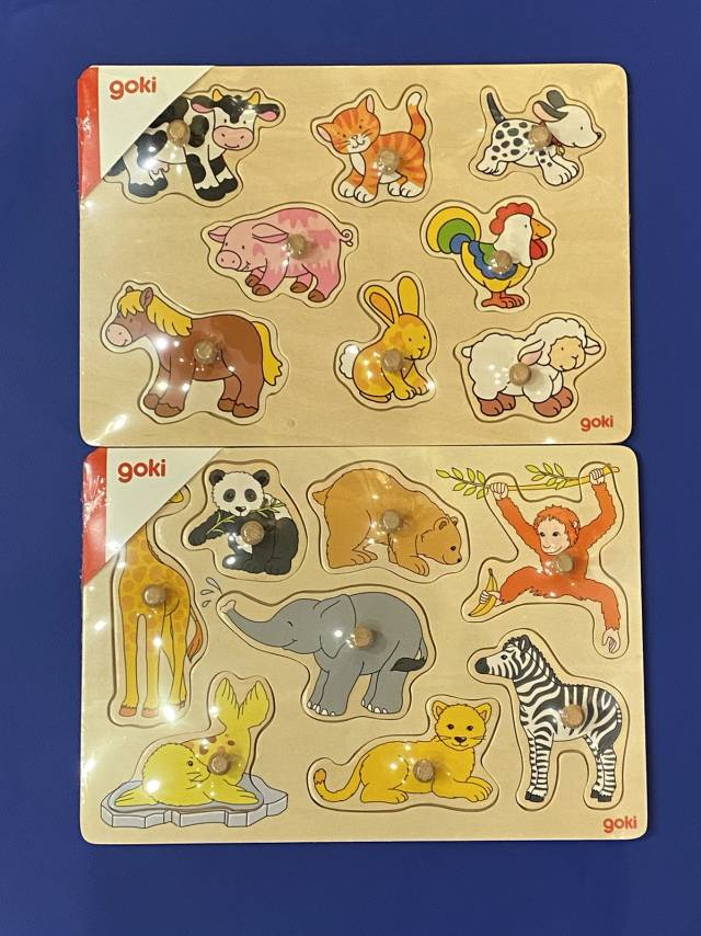 goki Steckpuzzle Tierkinder