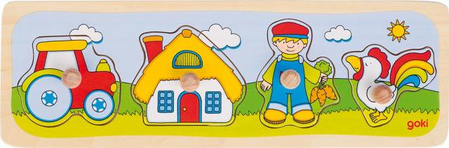 goki Steckpuzzle Zu Besuch auf dem Bauernhof
