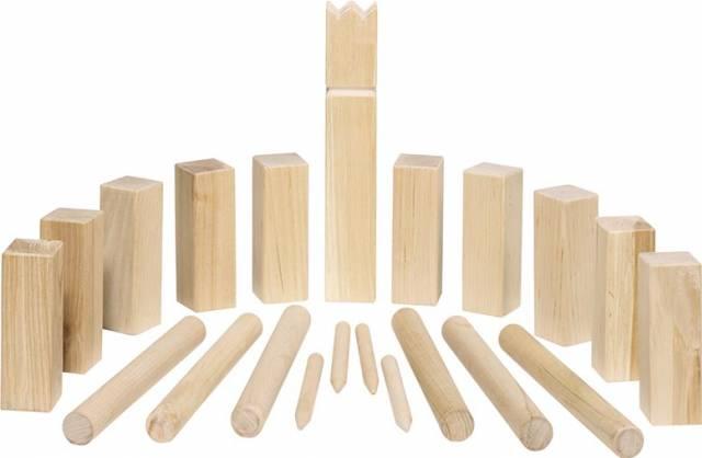 goki Wikingerspiel Kubb, kleine Größe, im Bauwollbeutel