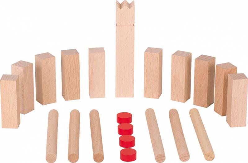 goki Wikingerspiel Mini-Kubb, im Bauwollbeutel