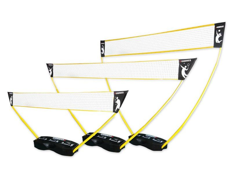 Hammer 3 in 1 Netze-Set für Volleyball, Badminton & Tennis