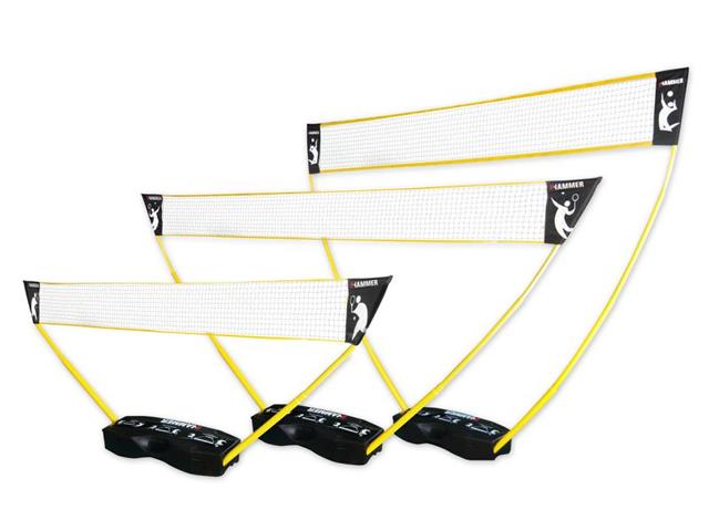 Hammer 3 in 1 Netze-Set für Volleyball, Badminton & Tennis 2021