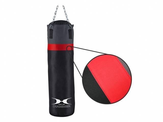 Hammer Boxsack Cobra, schwarz/rot 100 cm (gefüllt)