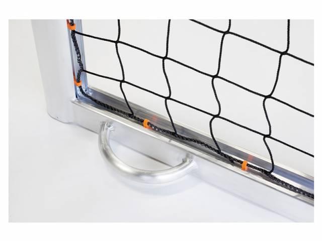Haspo Fußballtor - 7,32 x 2,44 m, transportabel & selbstsichernd, vollverschweißt PLUS, TÜV geprüft