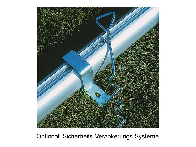 Haspo Fußballtor - 7,32 x 2,44 m, transportabel, vollverschweißt, TÜV geprüft
