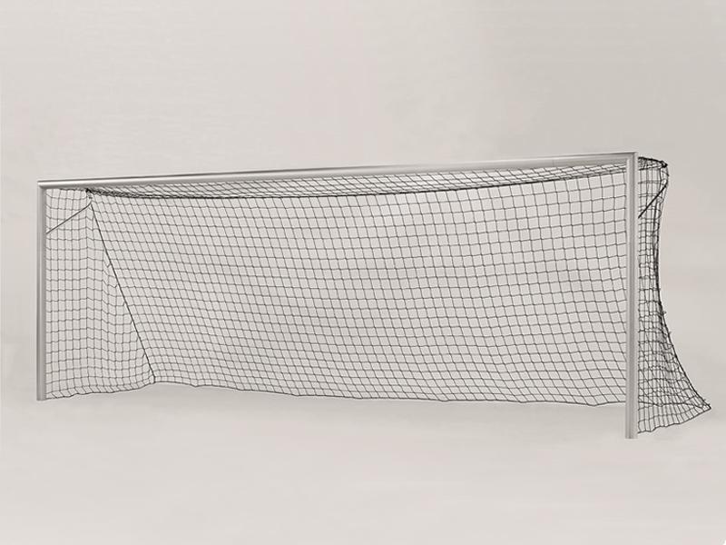 "Haspo Fußballtor ""Kompakt Plus"" - 7,32 x 2,44 m, in Bodenhülsen, TÜV geprüft"