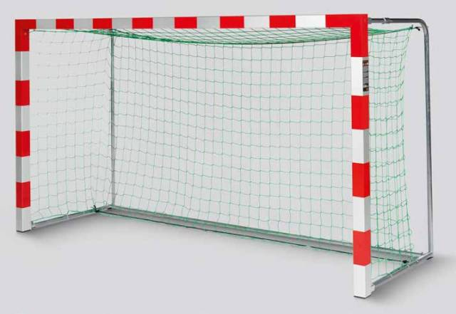 Haspo Mini-Handballtor Transportabel mit Anklappbaren Netzbügeln, 3,00 × 1,60 m