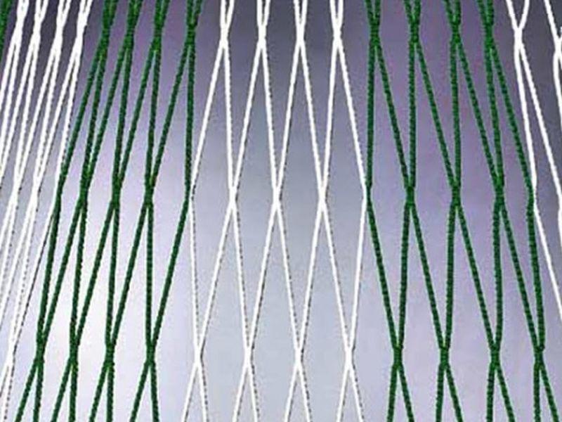 Huck Knotenloses Tornetz - 2farbig - 4mm stark Polypr. hochfest - (5,15 x 2,05 x 80/150)