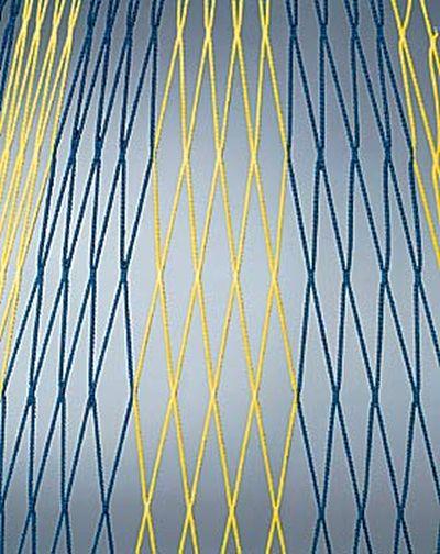 Huck Knotenloses Tornetz 4 mm - 2-farbig - Polypr. hochfest (7,50 x 2,50 x 200/200) in Blau/Weiß - B-WARE - 1 Paar