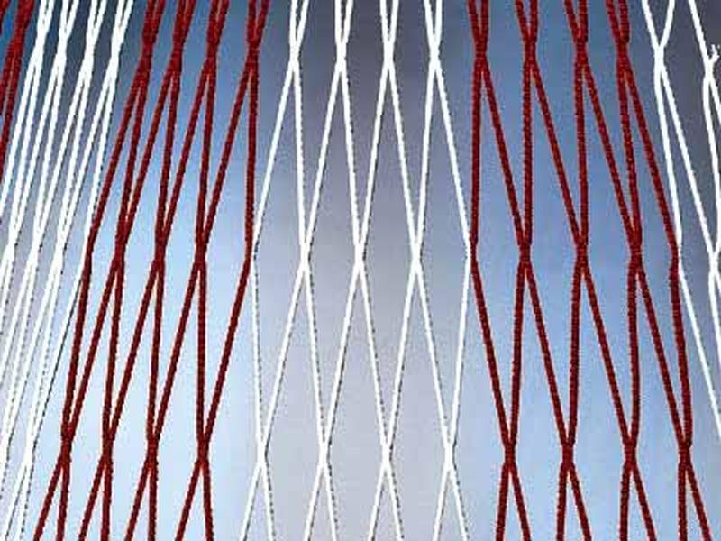 Huck Knotenloses Tornetz 4 mm - 2-farbig - Polypr. hochfest (7,50 x 2,50 x 80/150)