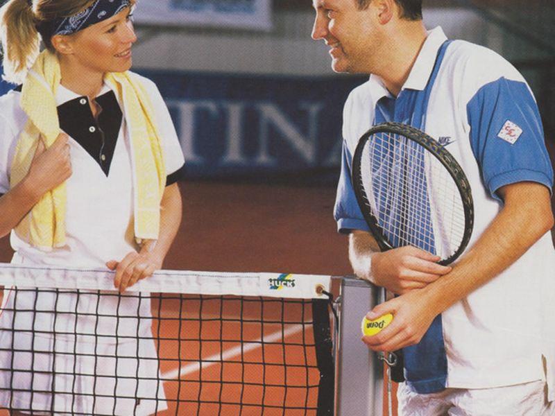 Huck Tennisnetz, Polypropylen 4 mm, ringsum eingefaßt