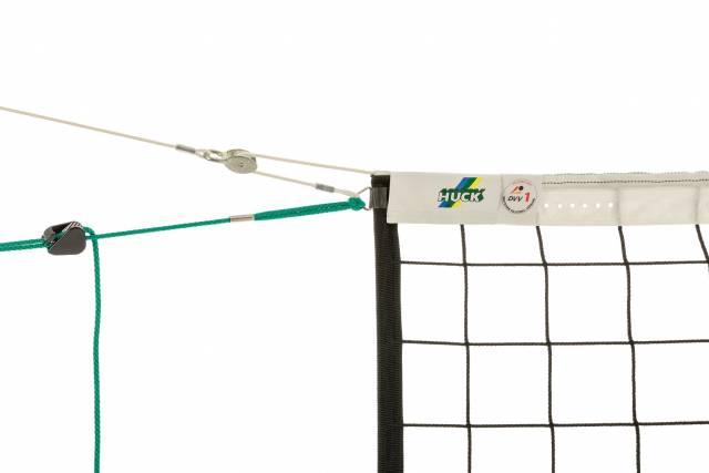Huck Volleyballnetz nach DVV I - Polypropylen 3 mm mit Umlenkrolle