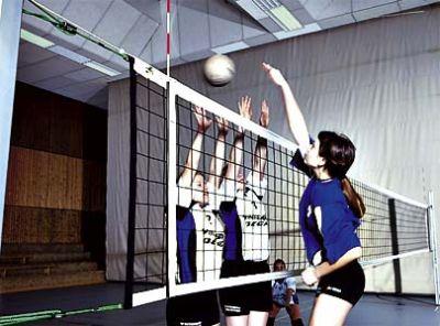 Huck Volleyballnetz nach DVV II - Polypropylen hochfest 3 mm mit Kevlarseil