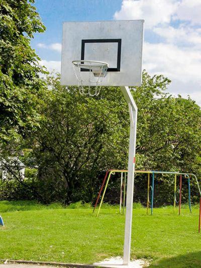 """Jobasport Basketball-Anlage """"Robust"""" - aus Stahl - Ausleger 1,25m"""