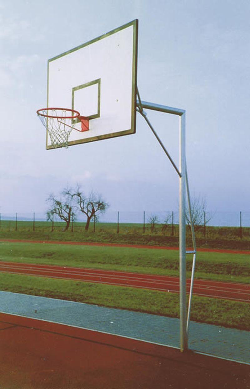 "Jobasport Basketball-Anlage ""Verstärkt""  - Ausladung 1,65 m - ohne Brett, Korb u. Netz"