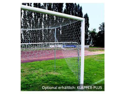 Jobasport Fußballtor - 7,32 x 2,44 m, in Bodenhülsen, DIN/GS, freie Netzaufhängung