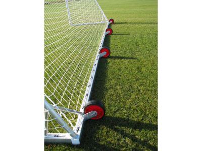 Jobasport Fußballtor - 7,32 x 2,44 m, transportabel mit Rädern, vollverschweißt, TÜV geprüft