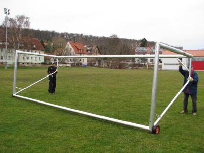 """Jobasport Fußballtor """"Robust Super GS + DIN"""" - 7,32 x 2,44 m, transportabel, vollverschweißt"""