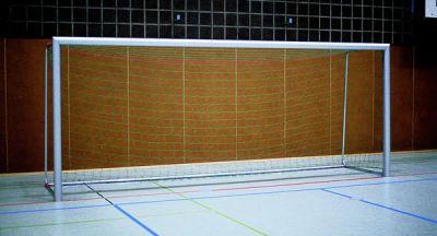 Jobasport Hallen-Fußballtor - 5 x 2 m, transportabel, Alu-Profil 100 x 120 mm