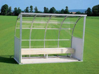"Jobasport Spielerkabine ""Europa"" - 4,95 m breit - Acrylglas transparent"