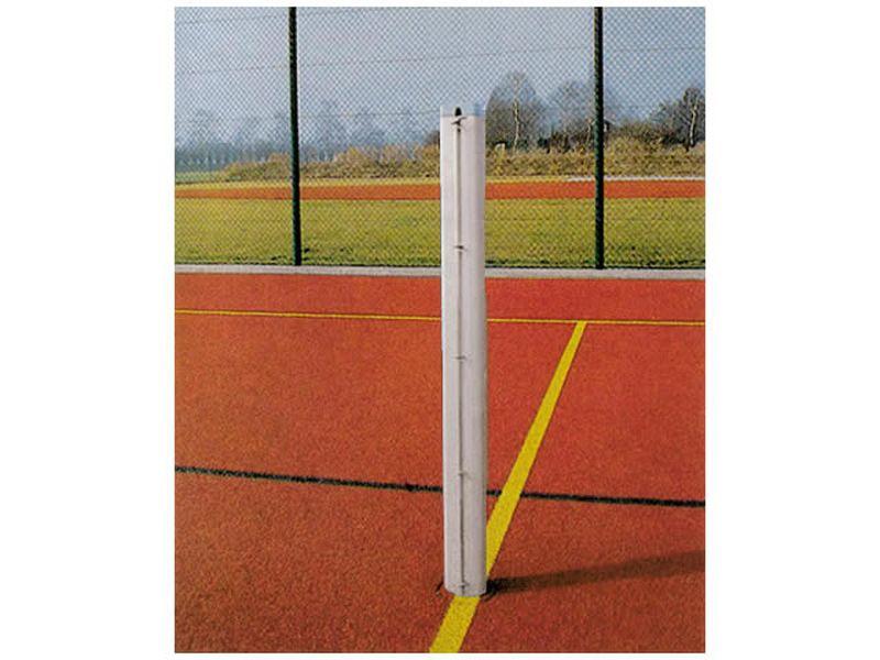 Jobasport Tennisnetz-Säulen Alu-Profil 80 x 80 mm Paar